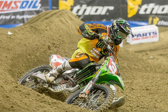 Gavin Faith is on fire and extending his Arenacross point lead at every outing of late