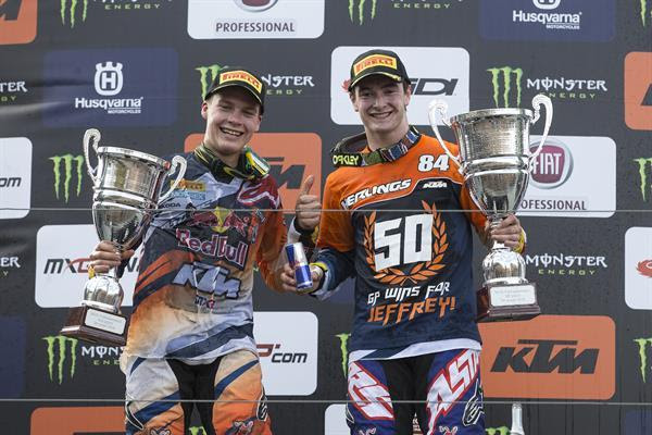 Herlings and Johnass on the podium