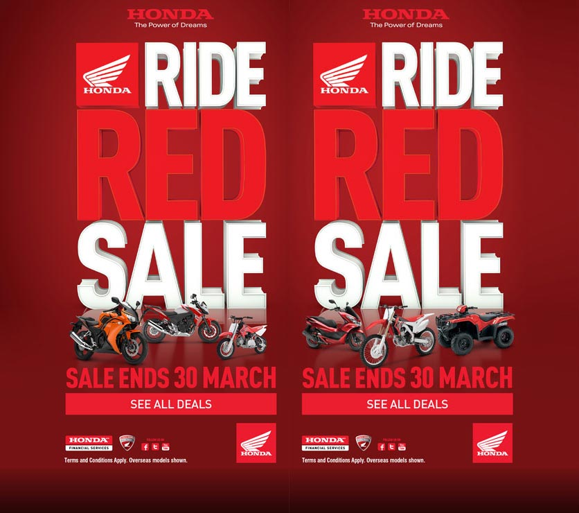 Honda Ride Red Sale