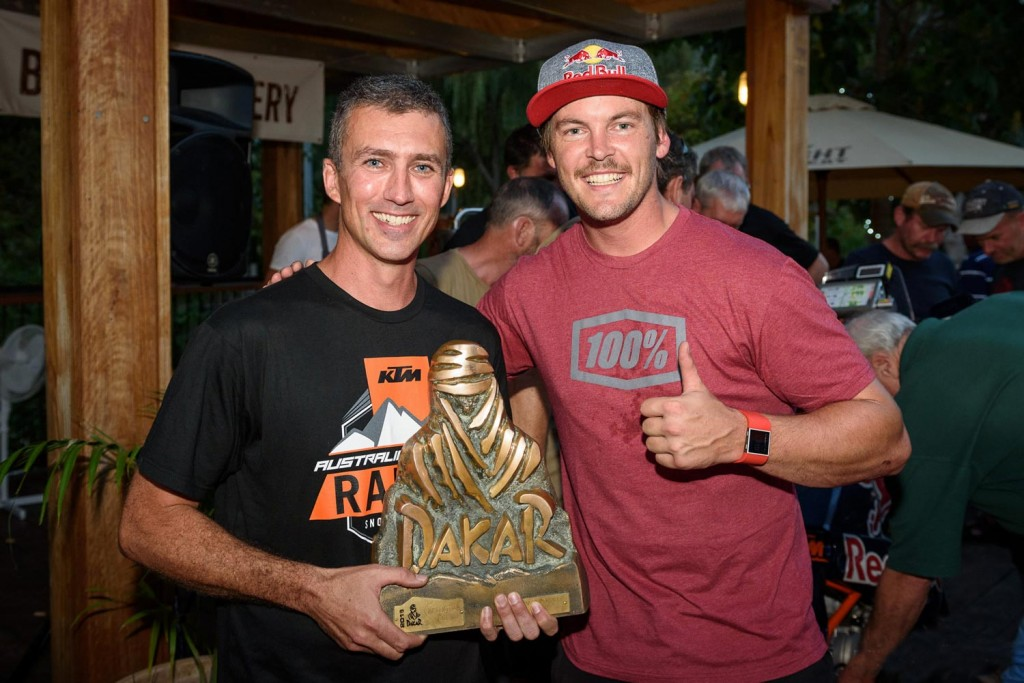 Nick Selleck with Toby price - KTM Adventure Rallye 2016