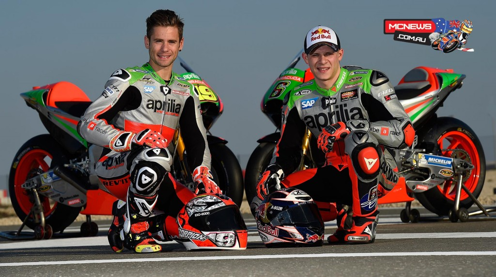 2016 Aprilia RS-GP - Alvaro Bautista and Stefan Bradl