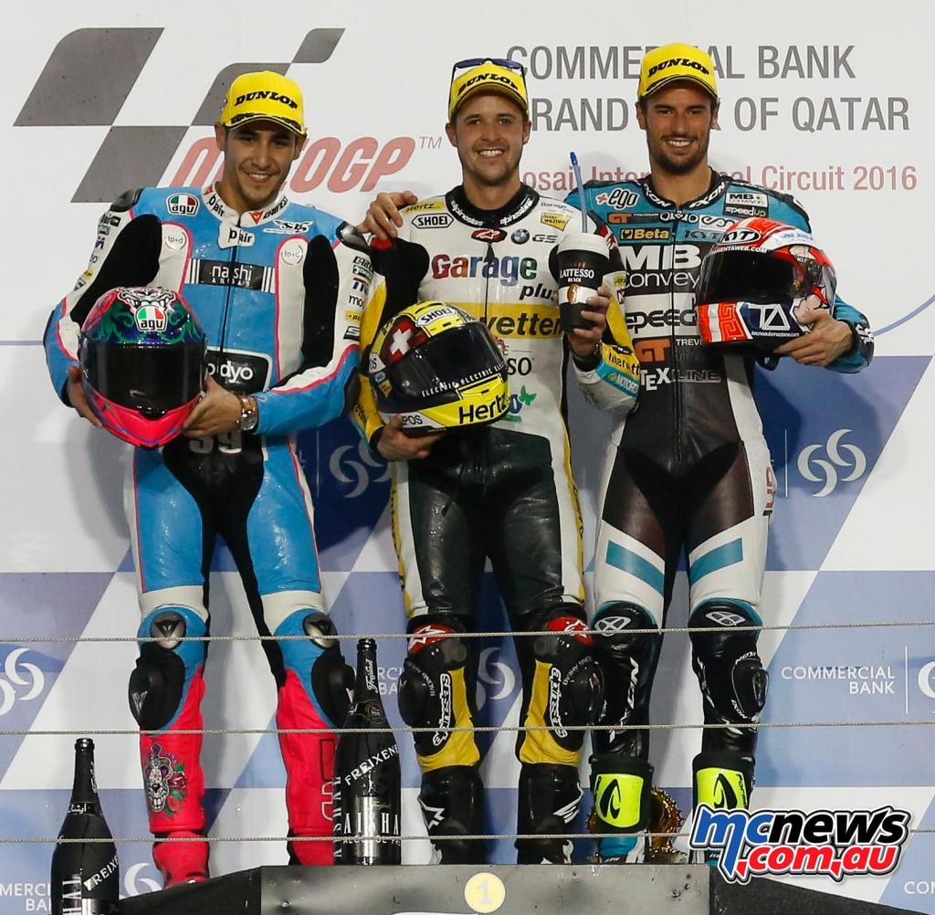 Moto2 2016 Round One Podium