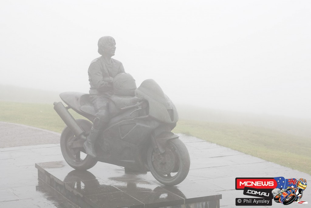 Joey Dunlop memorial near the Bungalow