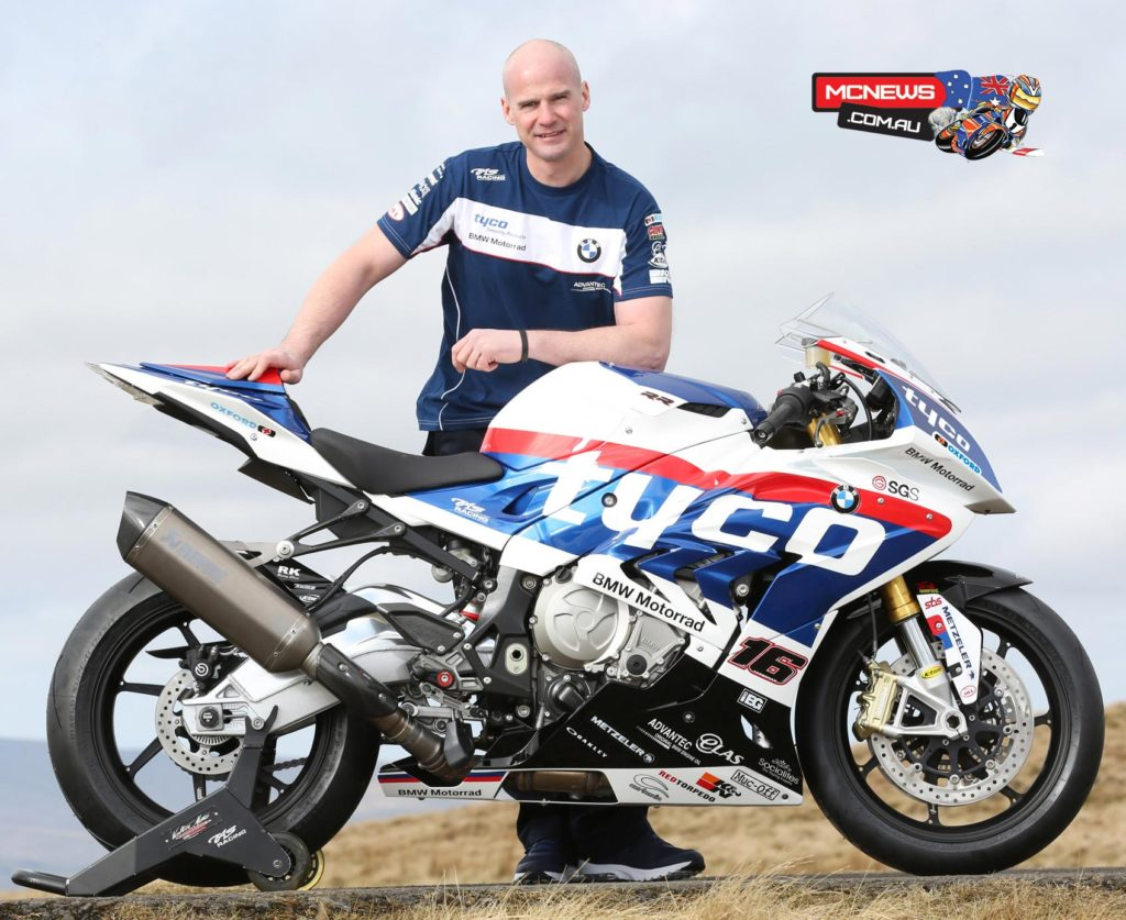 Dungannon's Ryan Farquhar is to ride a Tyco BMW by TAS Racing S 1000 RR at the 2016 Isle of Man TT