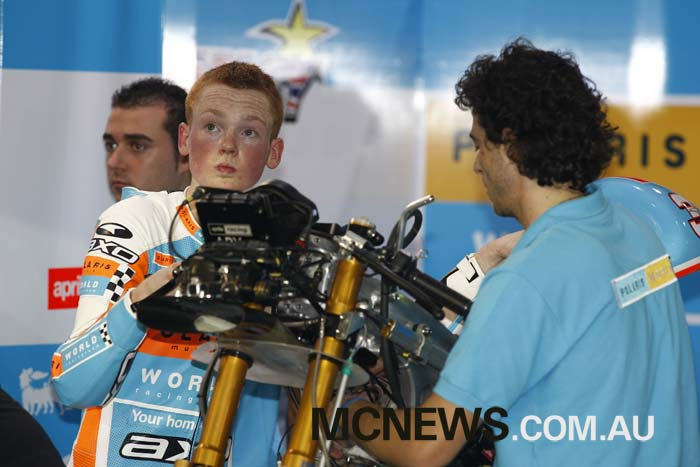 A young Bradley Smith back at the first Qatar MotoGP night race in 2008