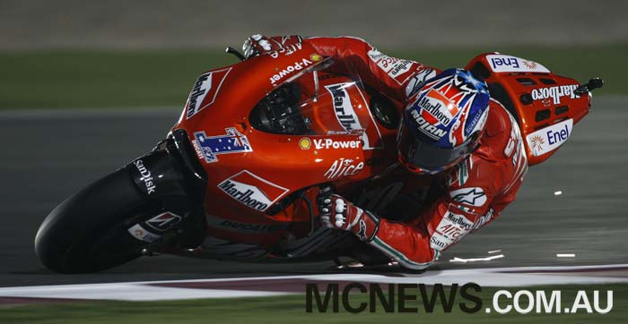 Casey Stoner won the first Qatar MotoGP back in 2008
