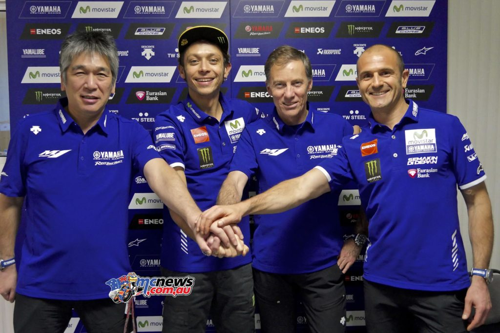 Valentino Rossi and Yamaha together until 2018