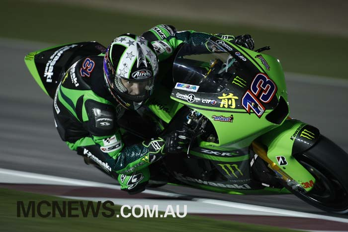 Anthony West at the first Qatar MotoGP night race back in 2008