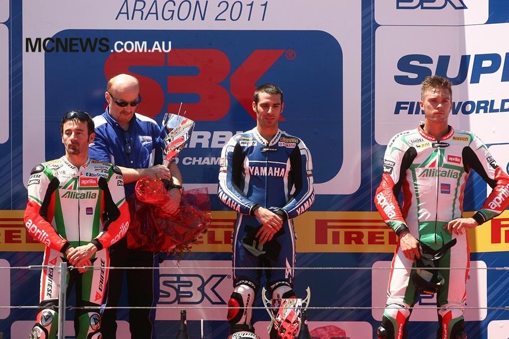 WorldSBK 2011 - Aragon - Marco Melandri, Max Biaggi, Leon Camier