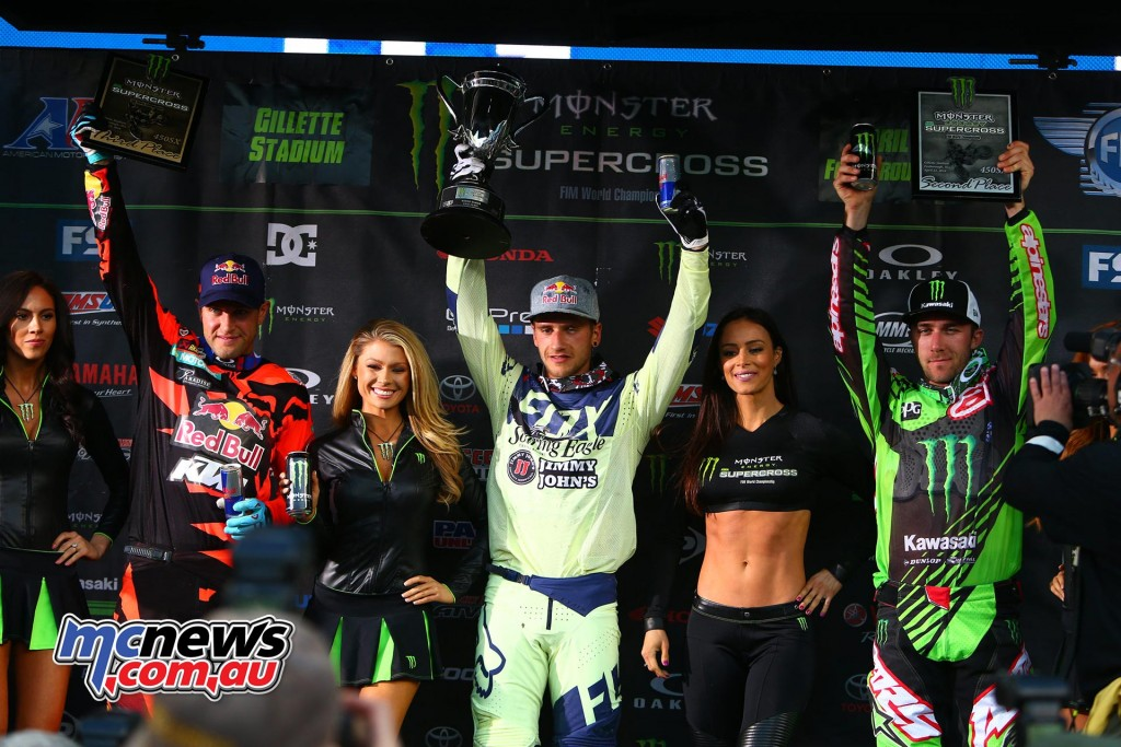 AMA Supercross 2016 - Foxborough - Podium 450