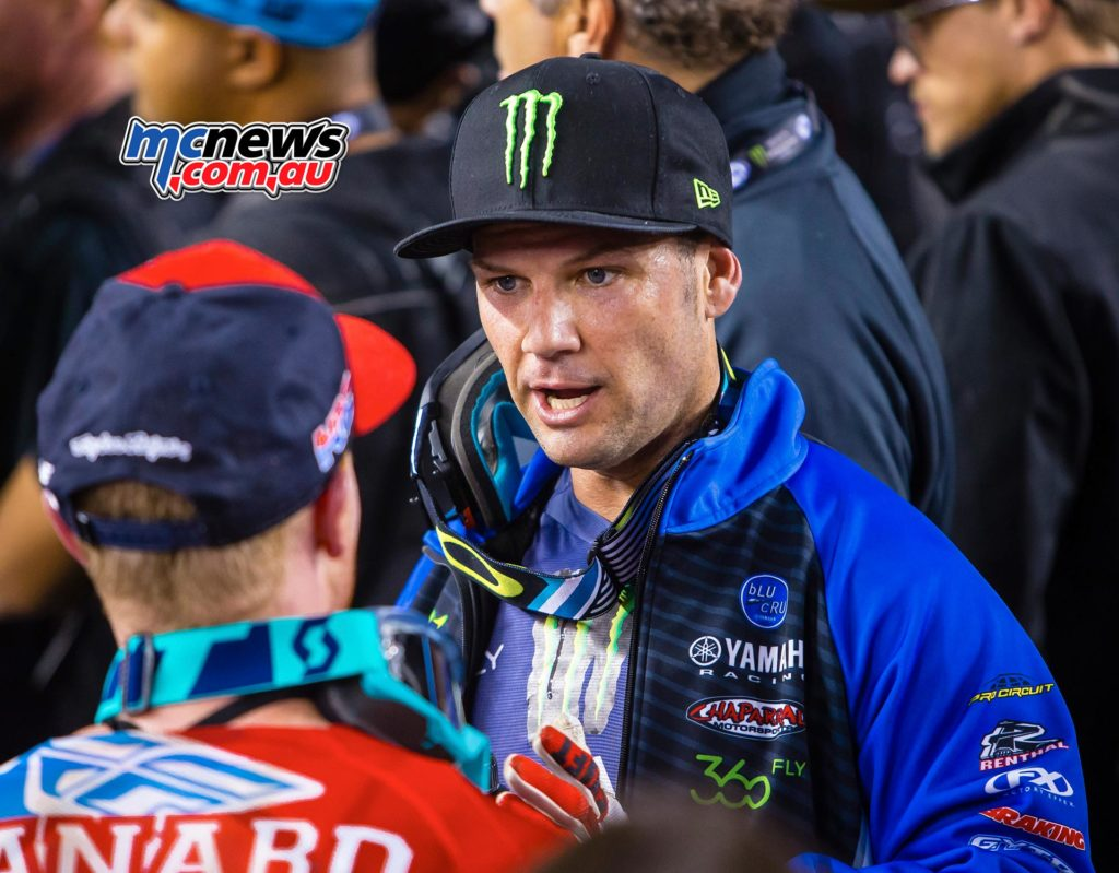 AMA Supercross 2016 - Santa Clara - Trey Canard with Chad Reed