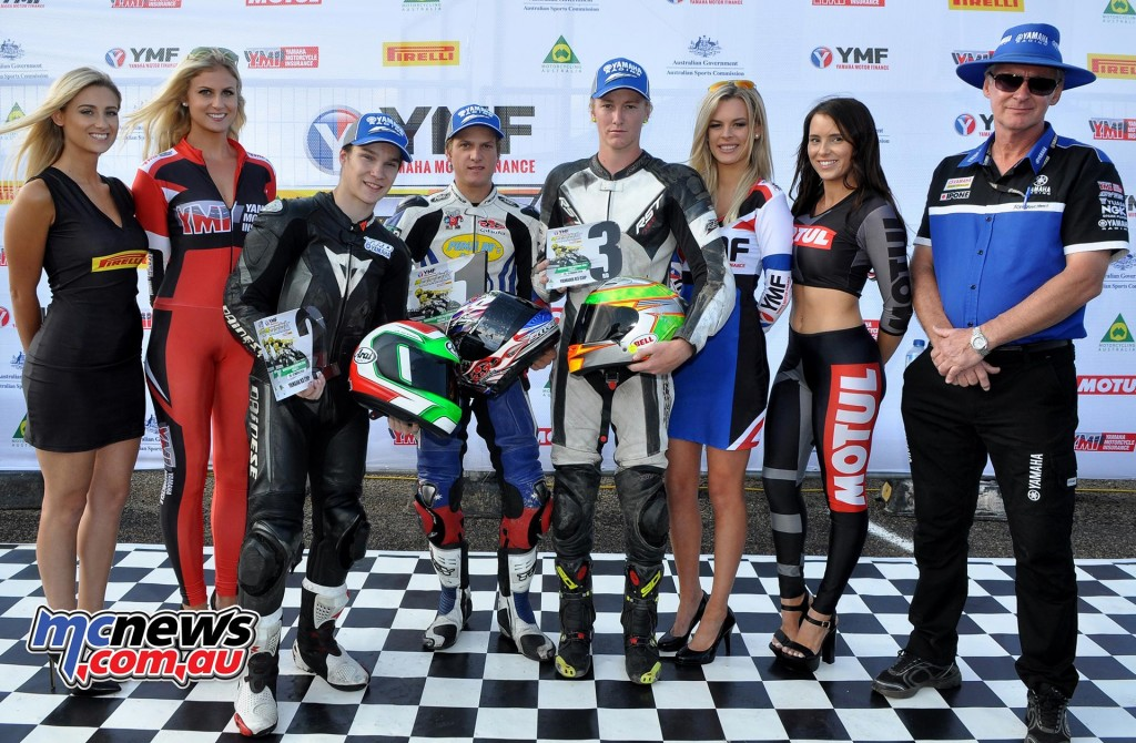 ASBK 2016 - Round Two - Wakefield Park - Yamaha YZF-R3 Cup Podium