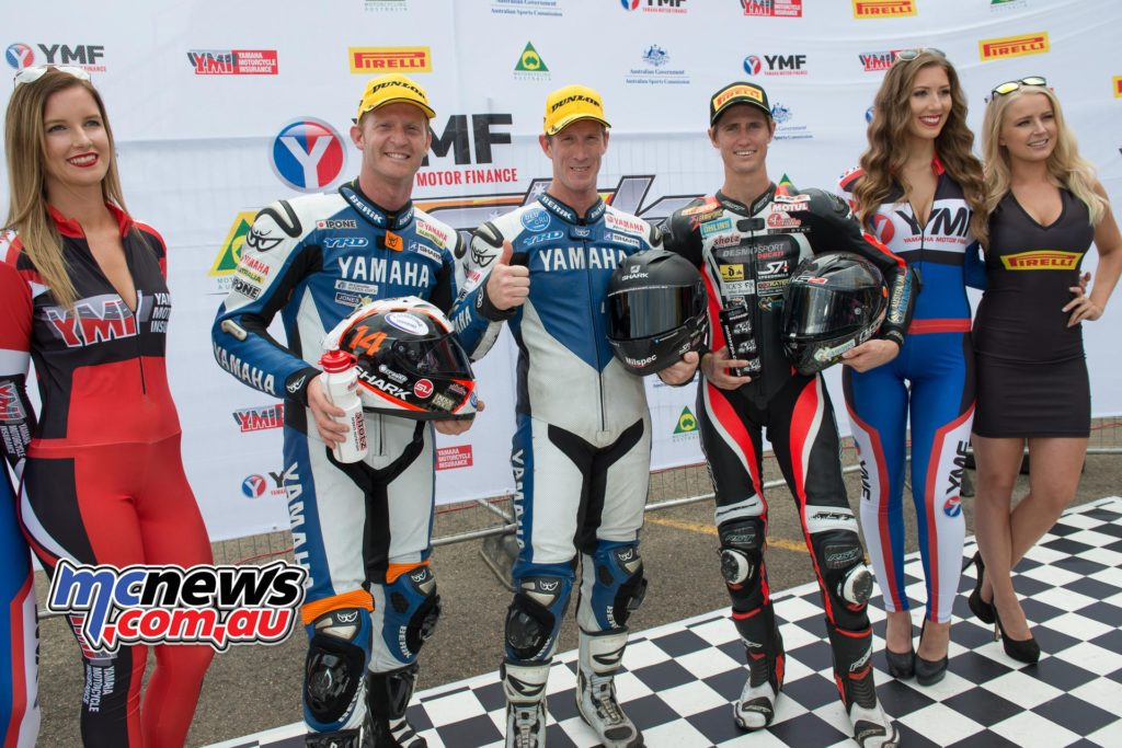 ASBK 2016 - Round Three - Sydney Motorsports Park - Race One Podium - Image by Steve Thibou