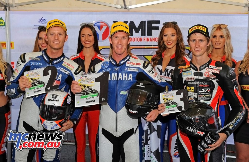 ASBK 2016 - Round Three - Sydney Motorsports Park - Race Two - Image by Keith Muir - Round Podium