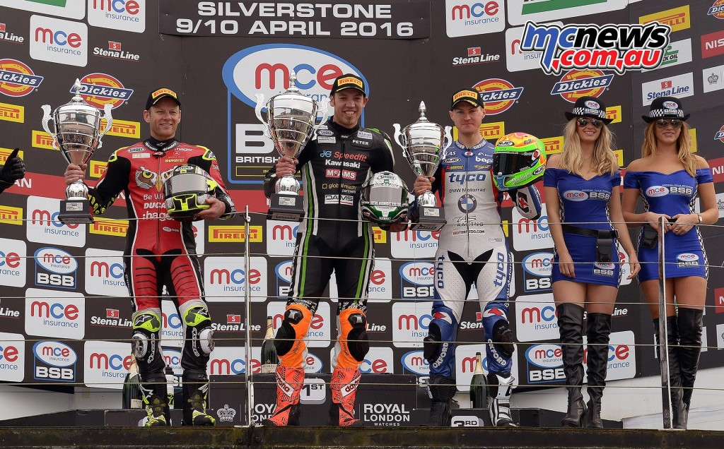BSB 2016 - Round One- Race Two Podium