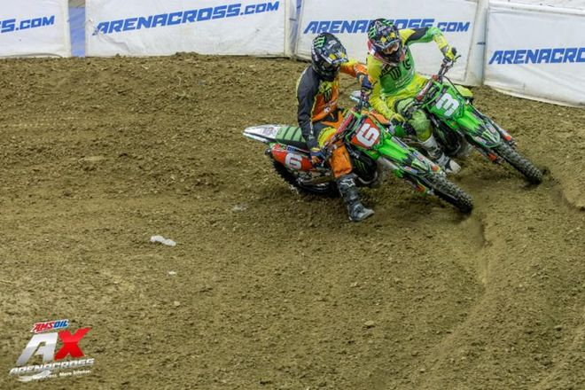 Gavin Faith and Chris Blose do battle