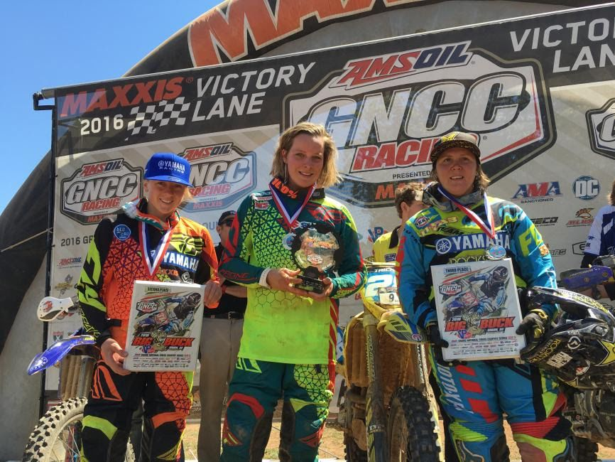Mackenzie Tricker on top of the GNCC podium