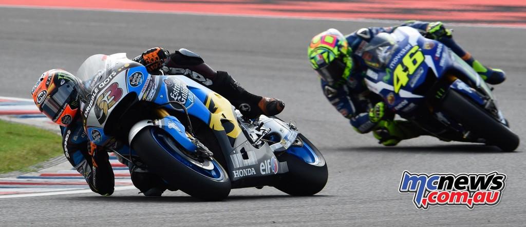 Tito Rabat and Valentino Rossi