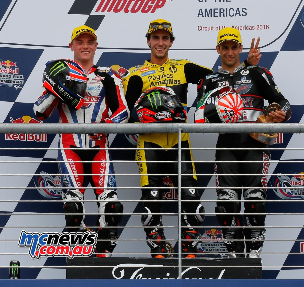 MotoGP 2016 - Round Three- COTA - Podium - Moto2