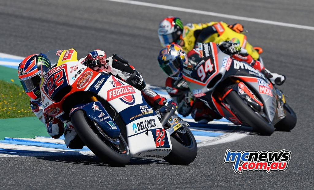Sam Lowes, Jonas Folger and Alex Rins