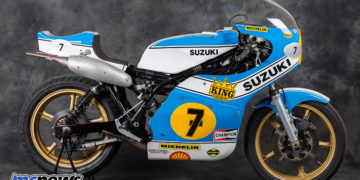 1975 Suzuki XR14 - The very machine that Barry Sheene won his (and Suzuki's) first 500cc GP race on - Image by Phil Aynsley