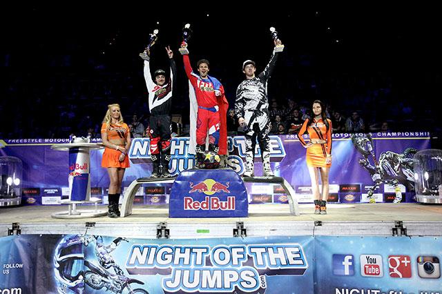 Rinaldo-Podmol and Ackermann made up the Night of Jumps podium