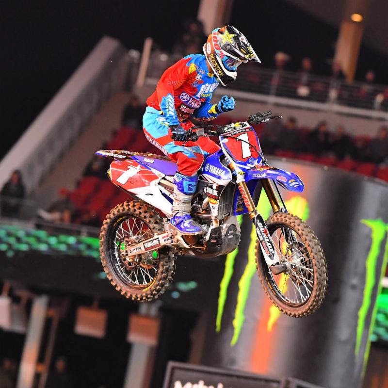 Cooper Webb went on to claim his fifth 250SX Class victory of the season, and the 11th of his career.