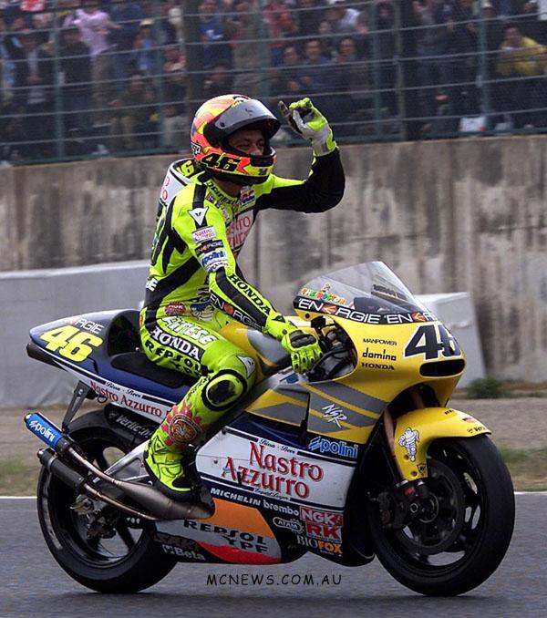 MotoGP 500cc World Championship 2001 - Round One - Suzuka - Valentino Rossi