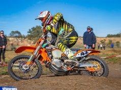 Tye Simmonds on his way to winning round 6 of the AORC