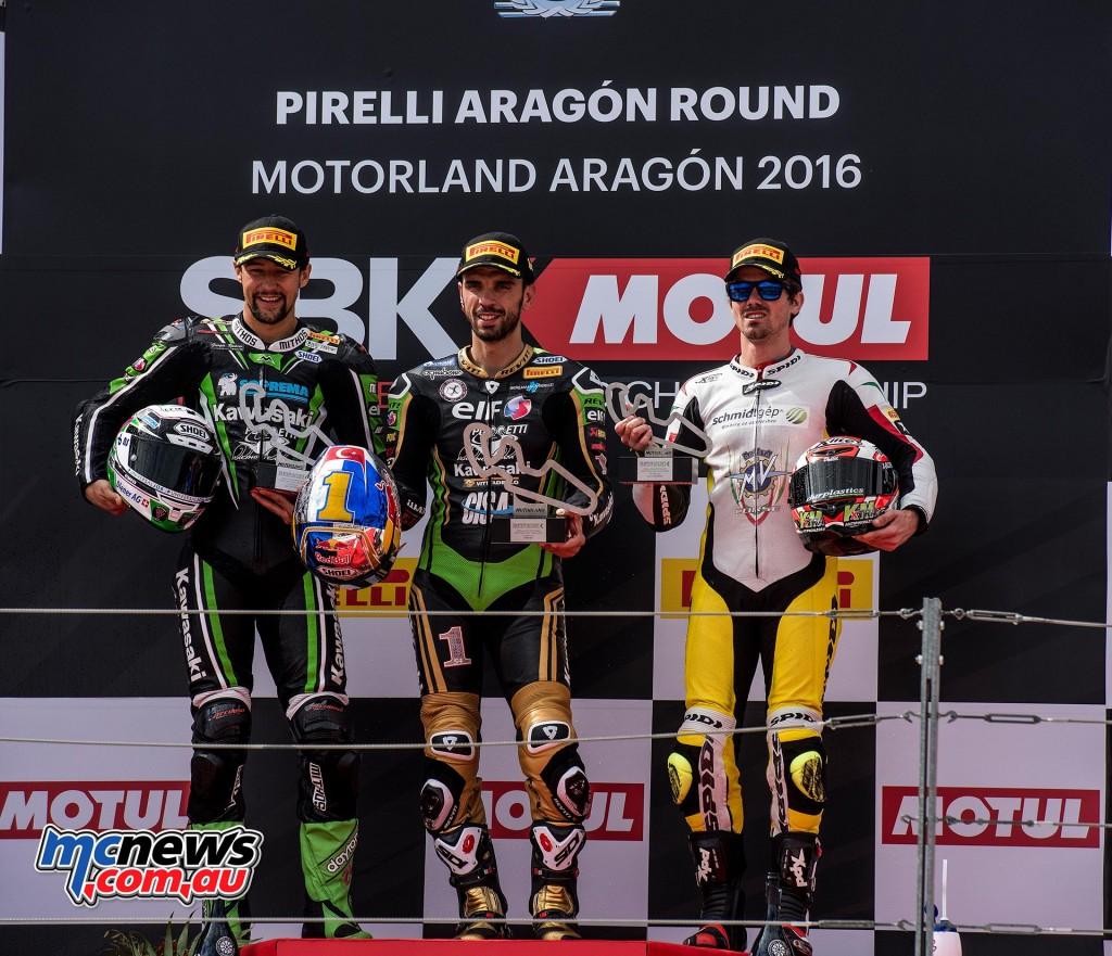 WorldSBK 2016 Aragon World Supersport Podium