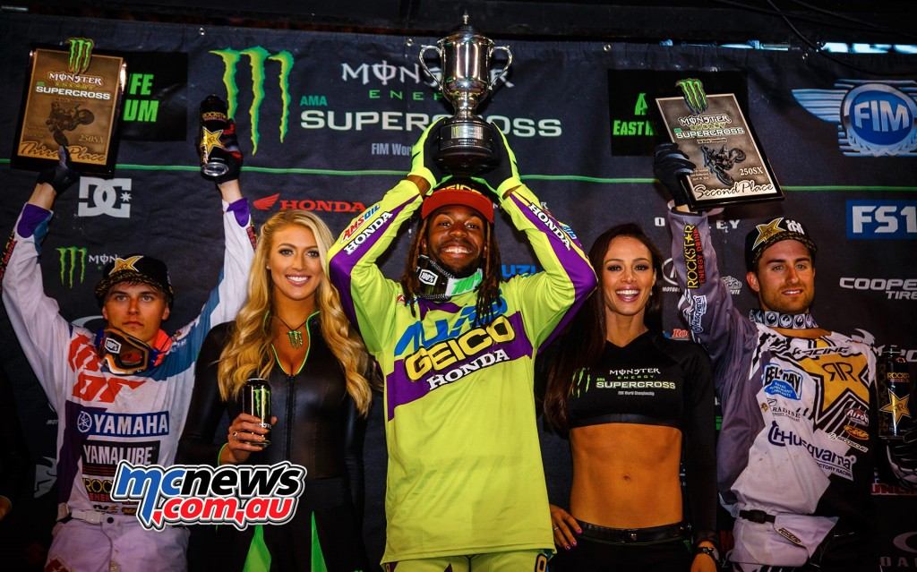 AMA Supercross 2016 - Round 16 - Metlife Stadium - 250 Podium