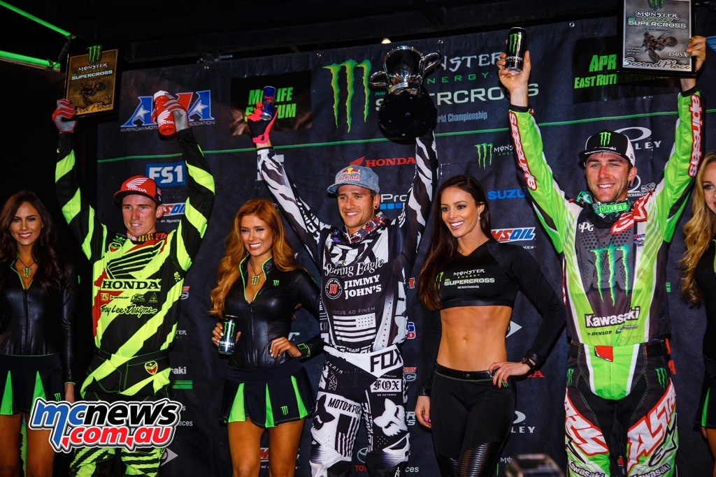 AMA Supercross 2016 - Round 16 - Metlife Stadium - 450 Podium