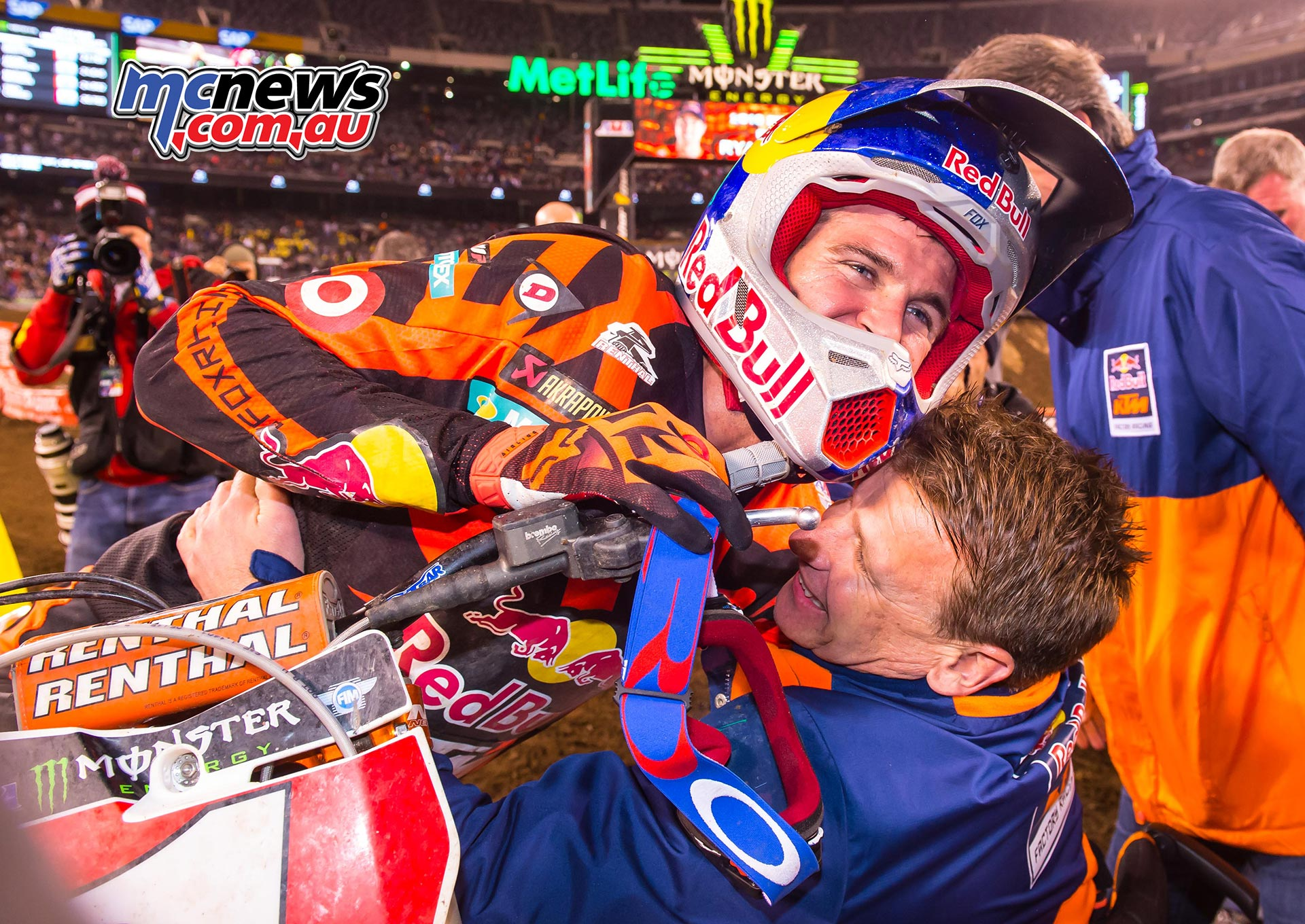 Ryan Dungey & Pit Beirer KTM 450 SX-F Podium East Rutherford 2016