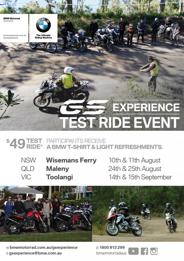 The BMW Motorrad GS Experience. Test ride the legend