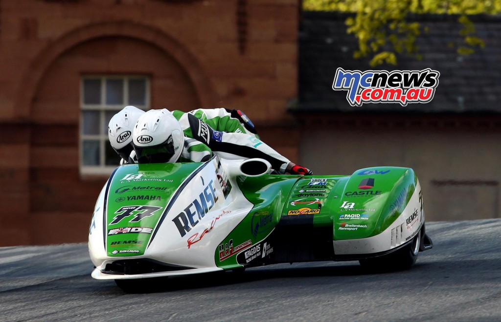 BSB 2016 - Round Two- Oulton Park - Sidecars - Tim Reeves and Gregory Cluze - Image by Tim Keeton