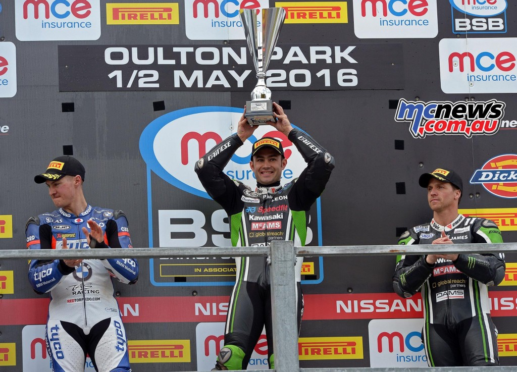 BSB 2016 - Round Two- Oulton Park - Superbike Race One Podium