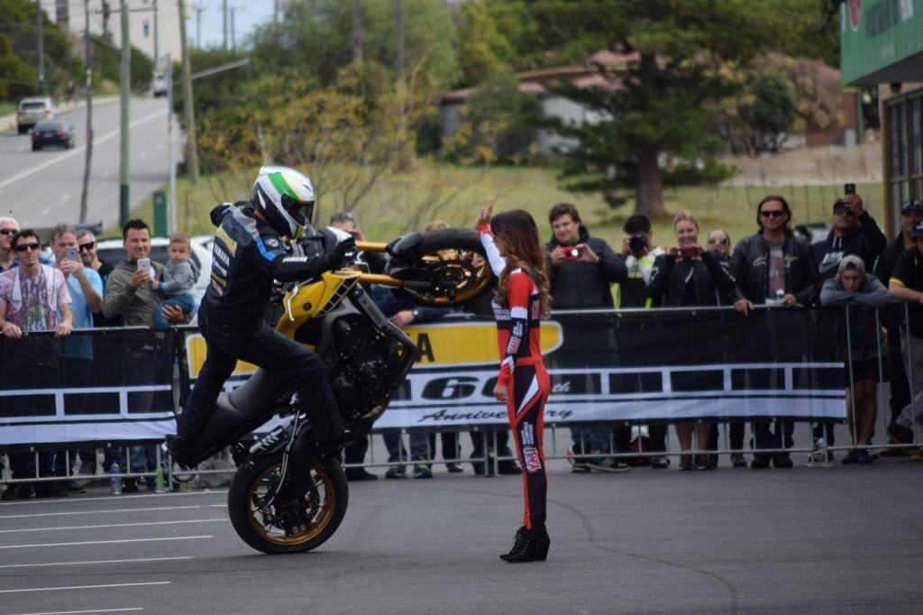 Yamaha stunt rider Dave McKenna performing at Five Star Yamaha