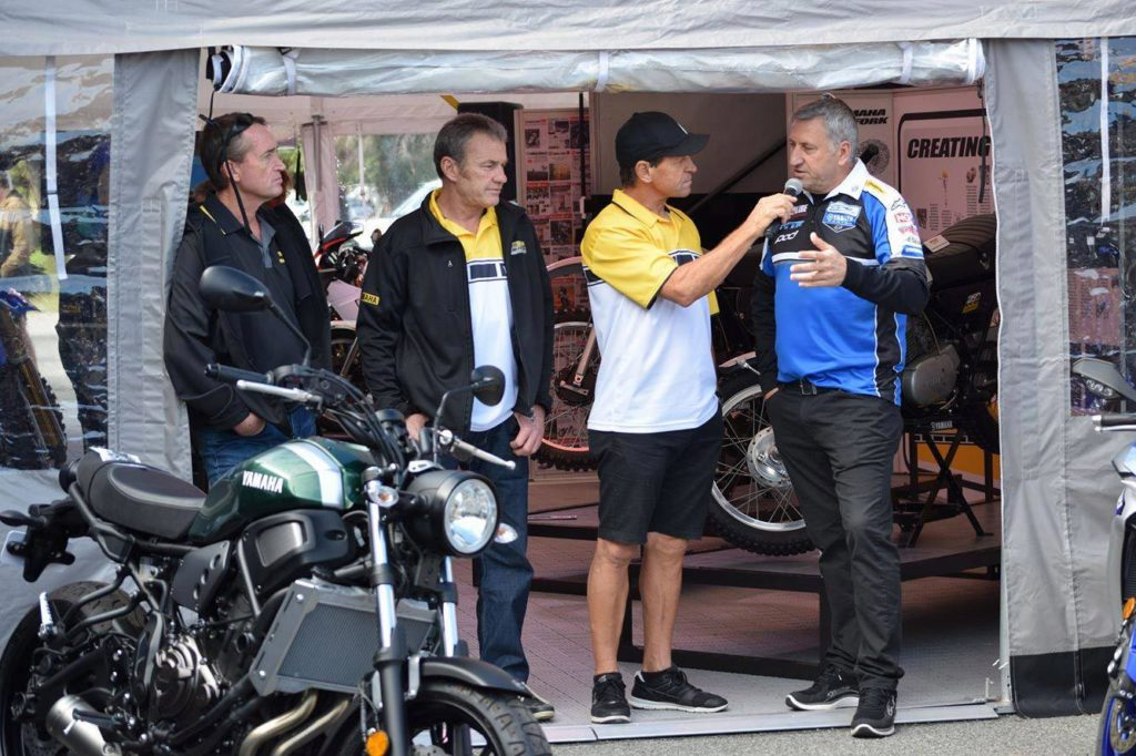 Yamaha legends Stephen Gall, Craig Dack, Kevin Magee and Michael Dowson