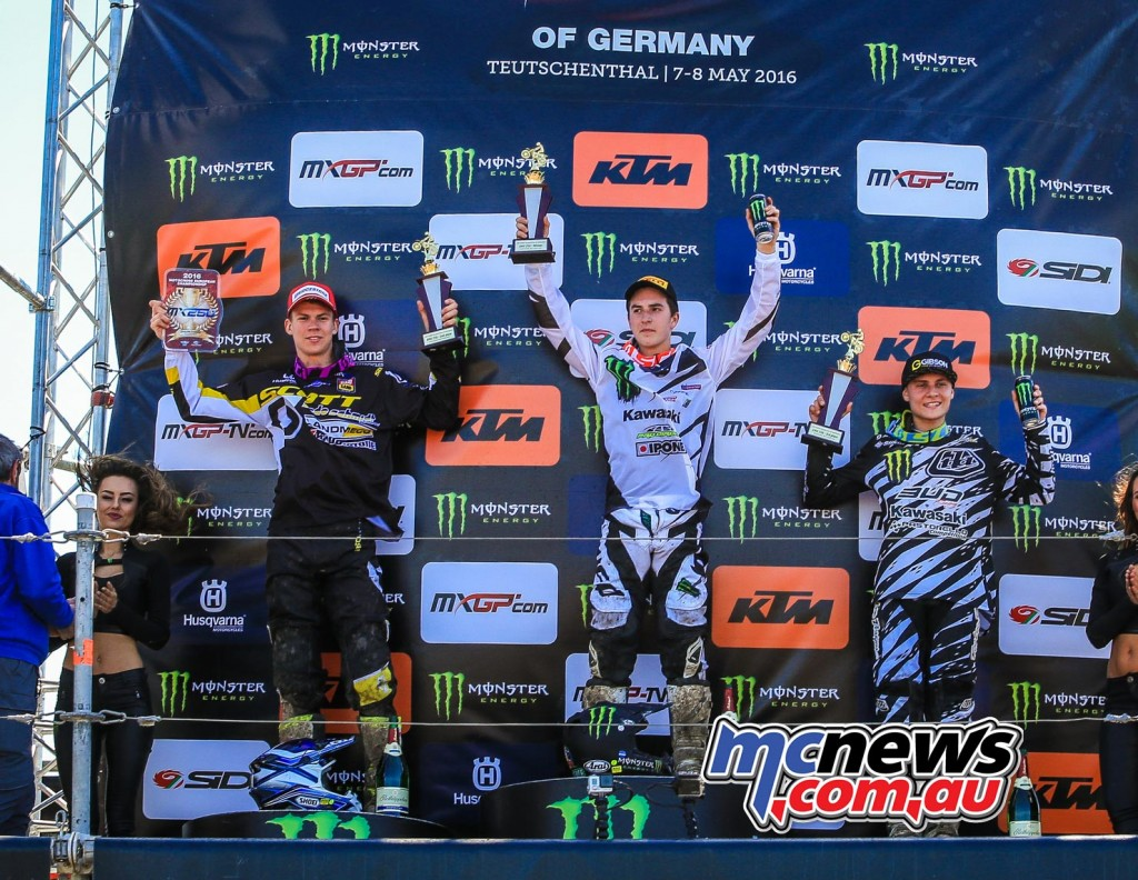 MXGP 2016 - Germany - 250 EMX Podium