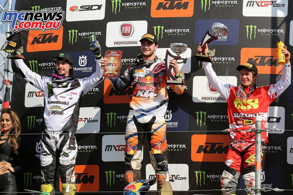 MXGP 2016 - Germany - MX2 Podium