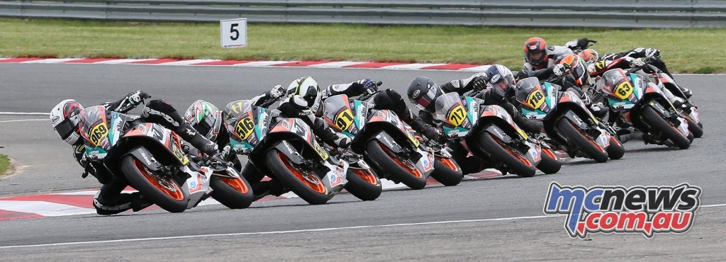 Brandon Paasch (969) beat Anthony Mazziotto III (516) to win the KTM RC Cup race.