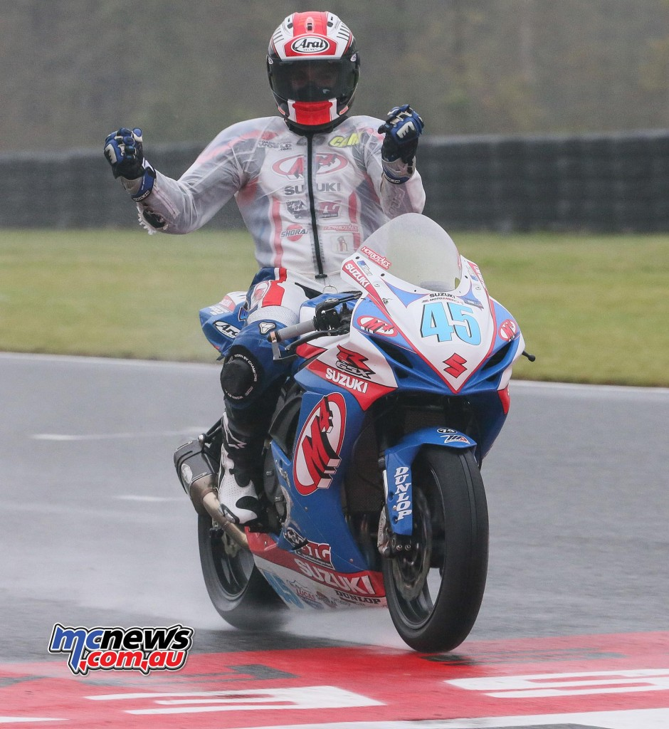Cameron Petersen won his first career Supersport race in the rain on Sunday.