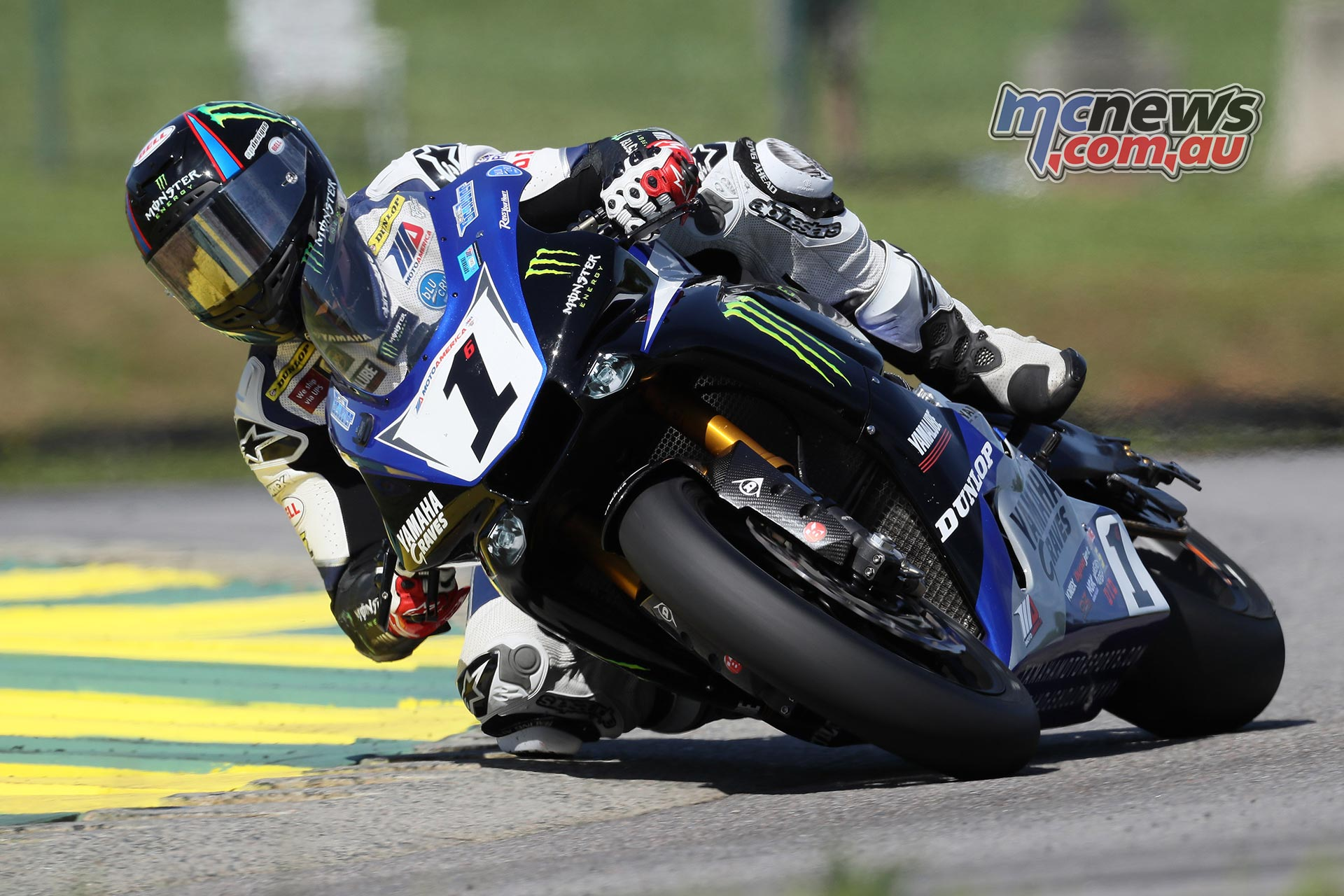 Defending Champion Cameron Beaubier earned his third Superbike pole position in a row on Saturday at VIRginia International Raceway. Photography by Brian J. Nelson.