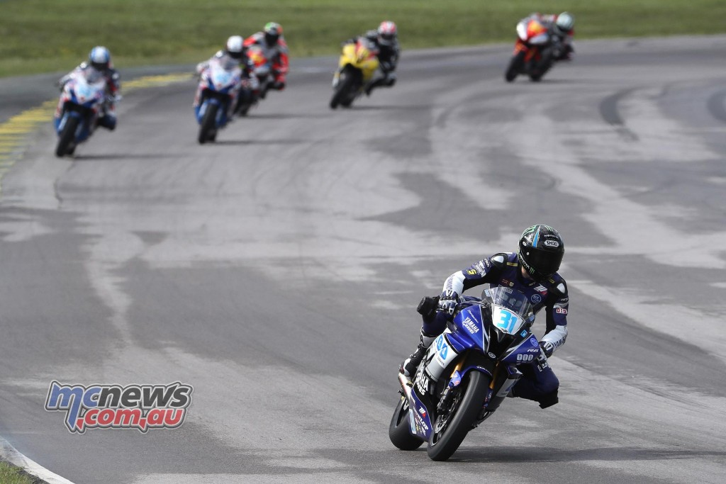 Garrett Gerloff made the right tire choice and turned it into a Supersport victory at VIR. Photography by Brian J. Nelson.