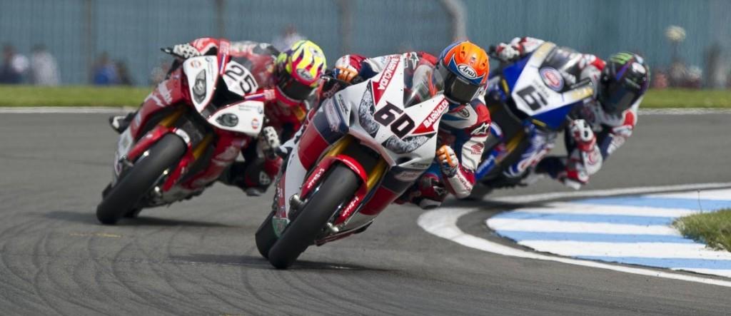 Josh Brookes chasing Michael Van der Mark