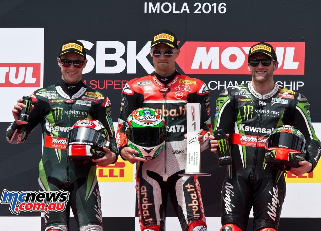 WorldSBK 2016 - Imola - Race One Podium