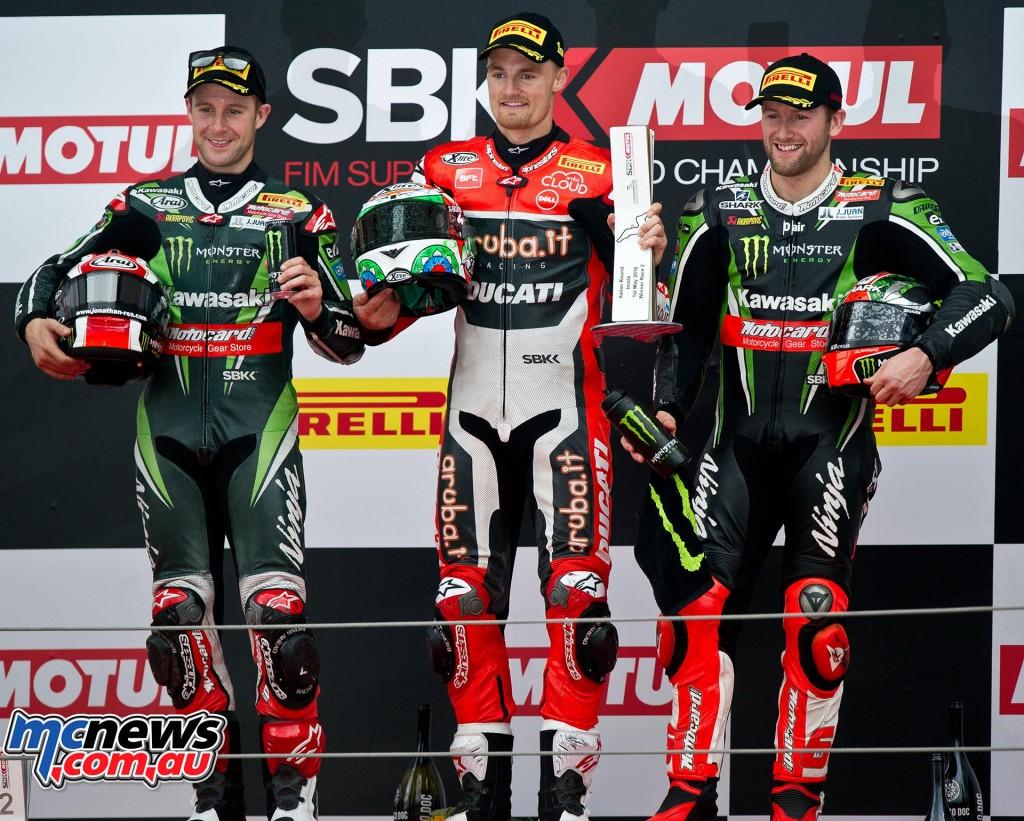 WorldSBK 2016 - Imola Race Two Podium