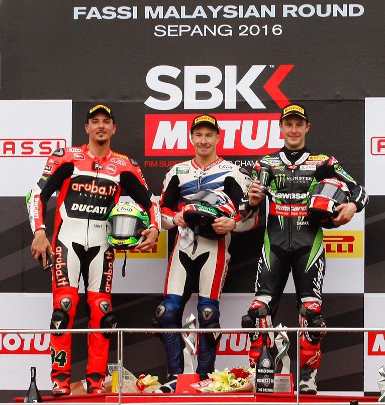 WorldSBK 2016 - Sepang - Podium- WSBK Race Two
