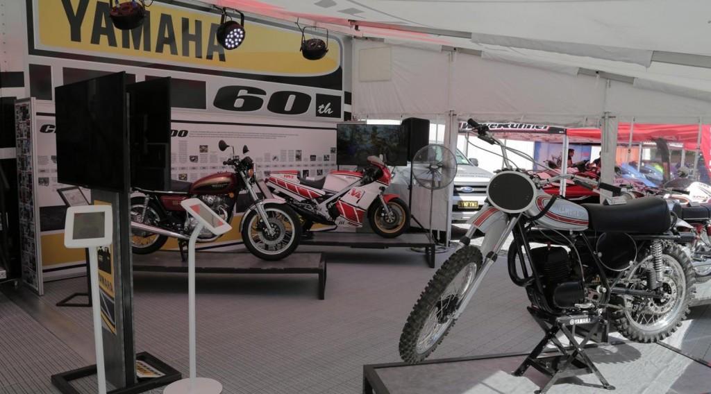 Yamaha 60th Anniversary display