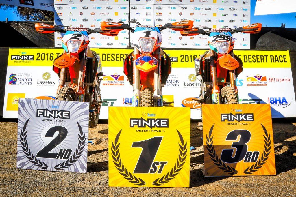 Finke 2016 - KTM 500 EXC 1-2-3
